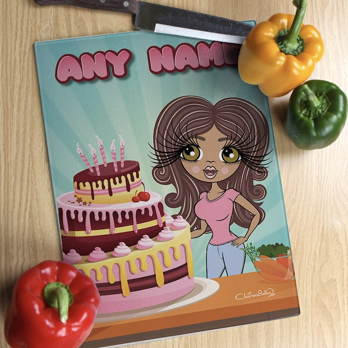 ClaireaBella Glass Chopping Board - Cake Surprise - Image 1