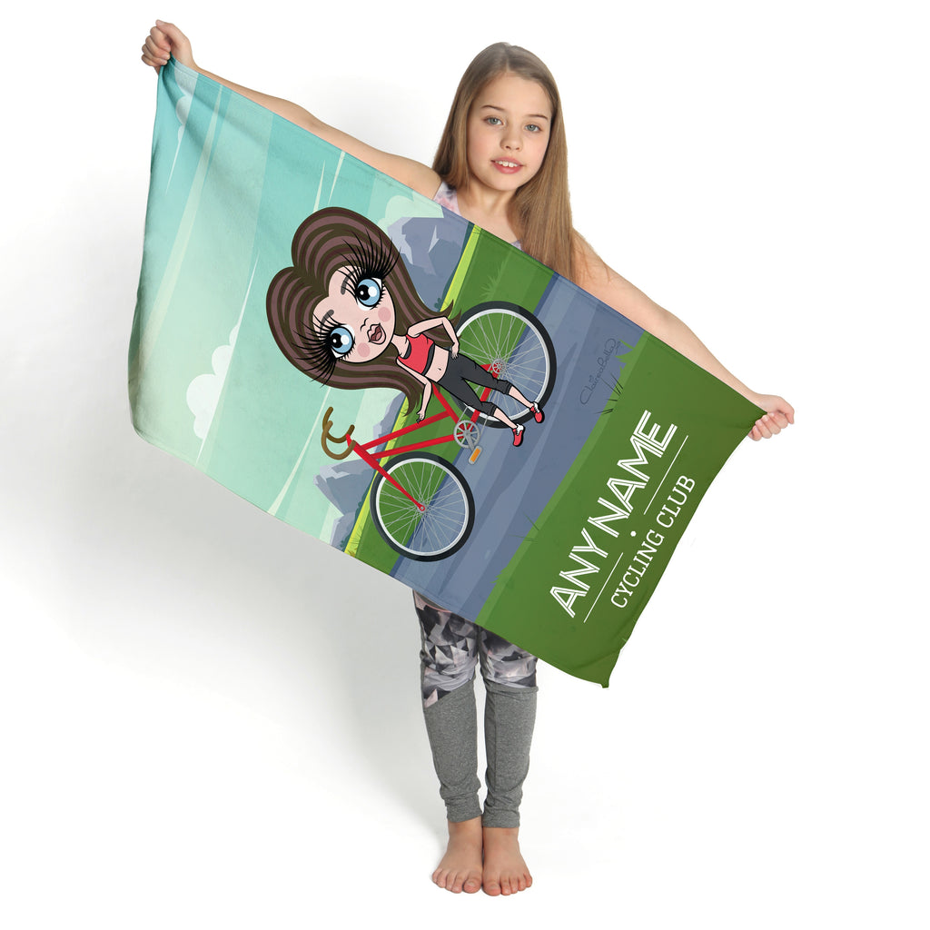 ClaireaBella Girls Bicycle Gym Towel - Image 1