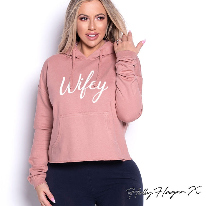 Holly Hagan X Wifey Cropped Hoodie - Image 1