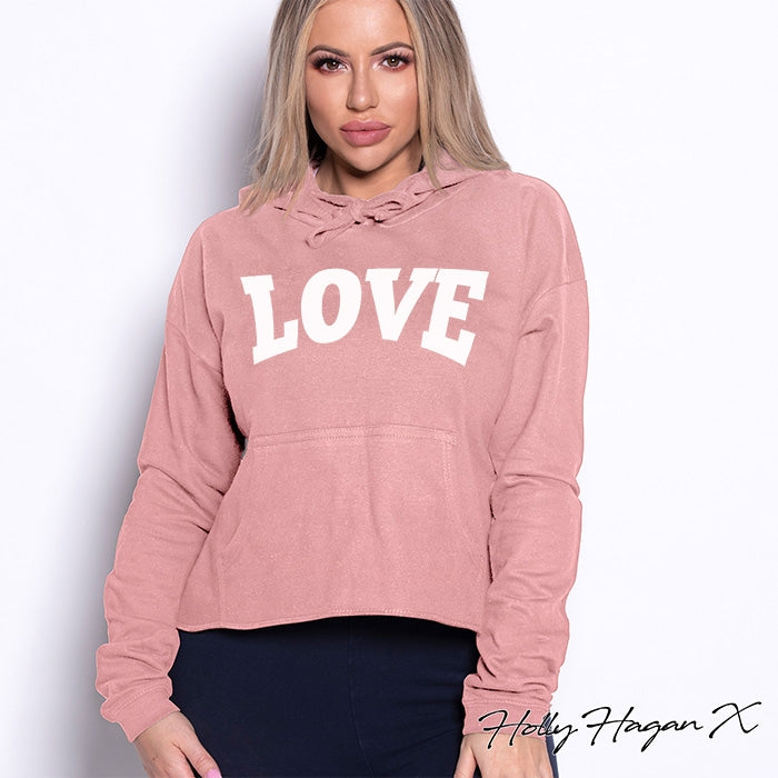 Holly Hagan X Love Cropped Hoodie - Image 5