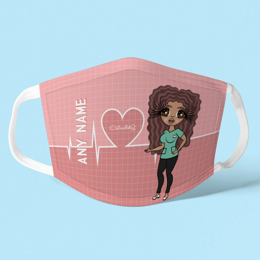 ClaireaBella Personalised Heart Beat Reusable Face Covering