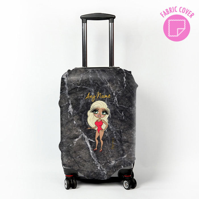 ClaireaBella Dark Marble Effect Suitcase Cover