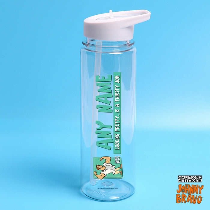Johnny Bravo Guys Pretty Thirsty Mint Water Bottle - Image 1