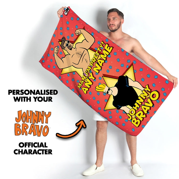 Johnny Bravo Guys Flower Power Beach Towel - Image 2