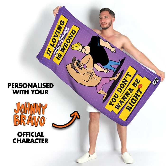 Johnny Bravo Guys Loving Me Beach Towel - Image 3