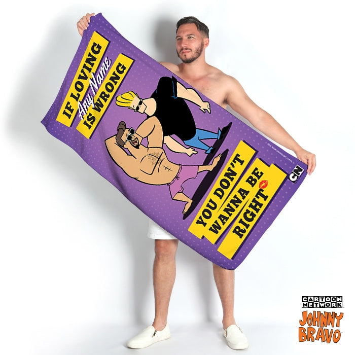Johnny Bravo Guys Loving Me Beach Towel - Image 1