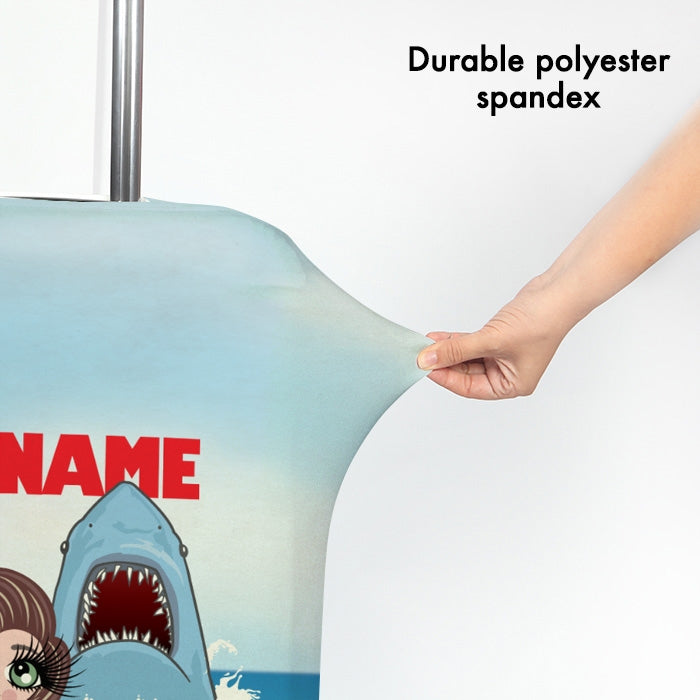 ClaireaBella Retro Shark Attack Suitcase Cover - Image 3