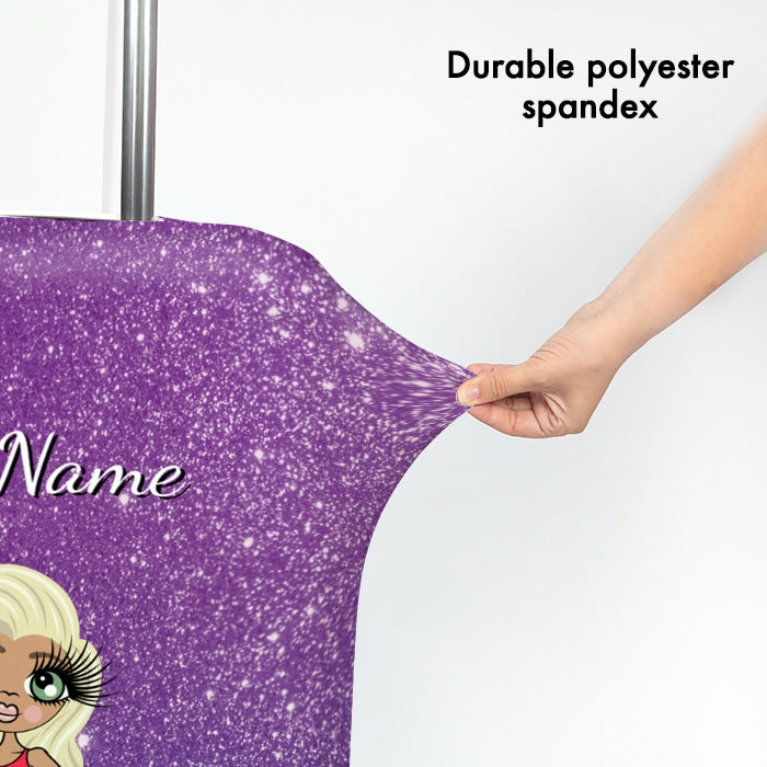 ClaireaBella Ombre Glitter Effect Suitcase Cover - Image 3