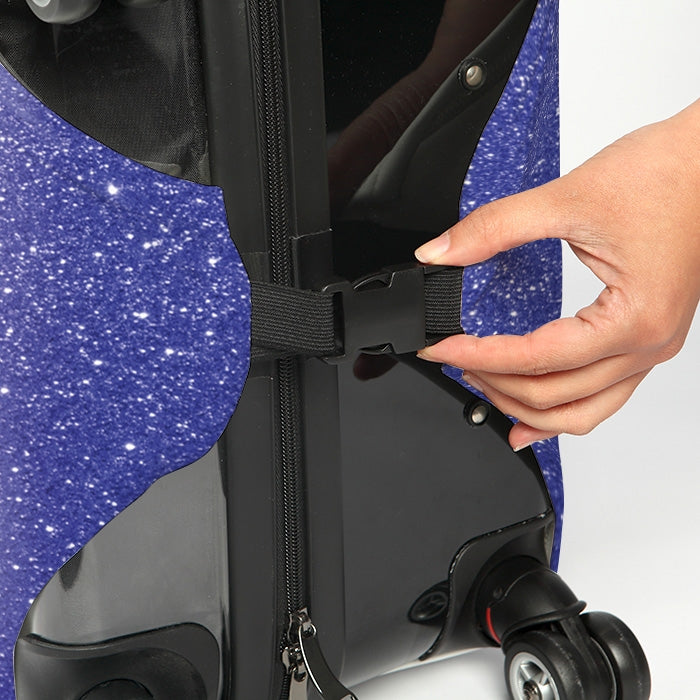 ClaireaBella Ombre Glitter Effect Suitcase Cover - Image 4