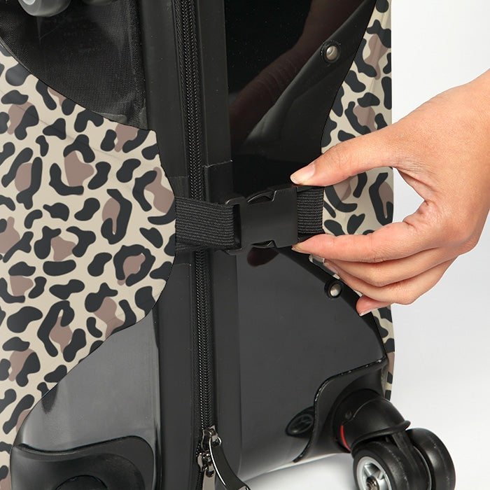 ClaireaBella Leopard Print Suitcase Cover - Image 4