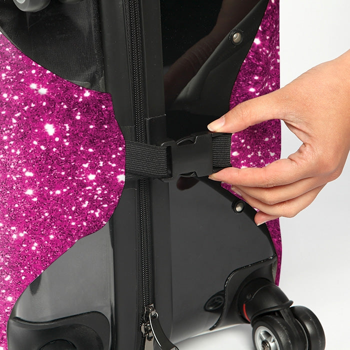 ClaireaBella Glitter Effect Suitcase Cover - Image 4