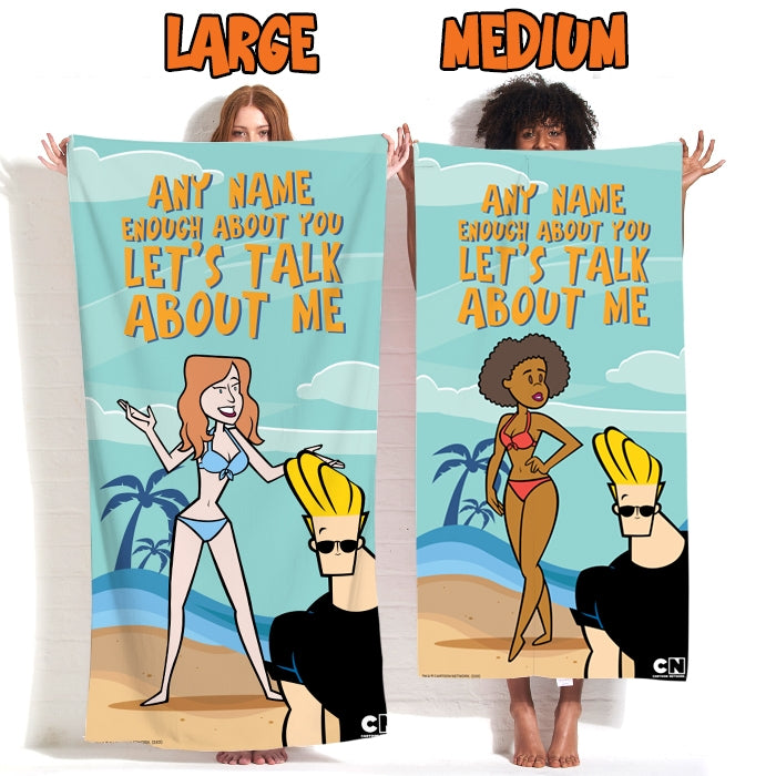 Johnny Bravo Ladies Let's Talk Beach Towel - Image 3