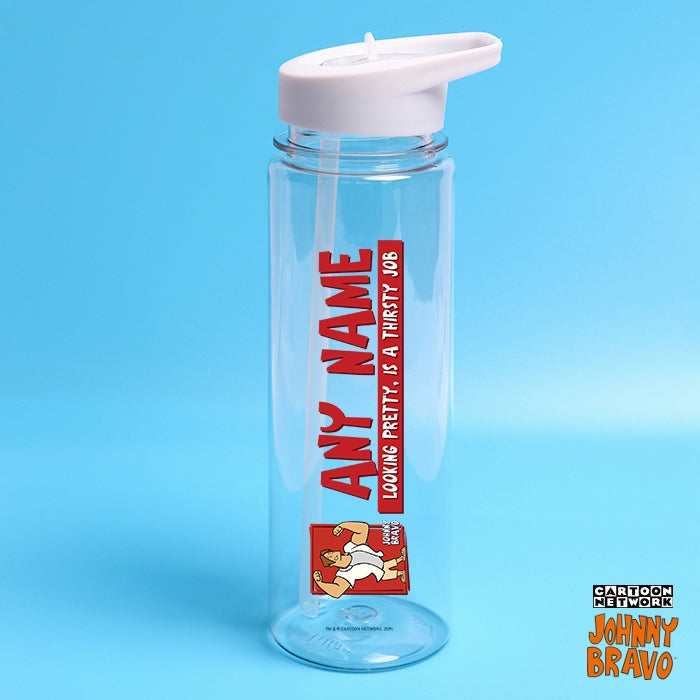 Johnny Bravo Guys Pretty Thirsty Red Water Bottle - Image 1