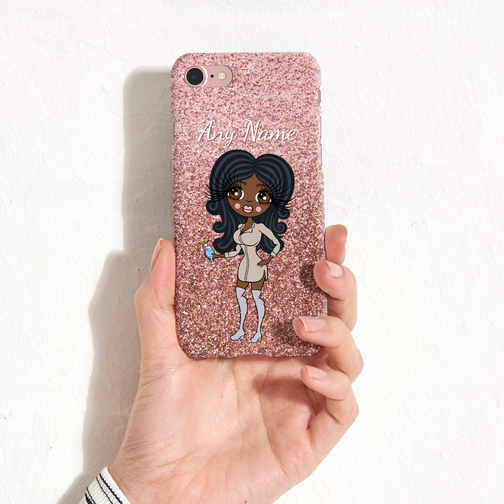 ClaireaBella Personalised Glitter Effect Phone Case - Blush - Image 3