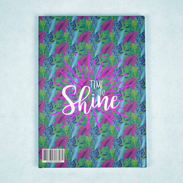 ClaireaBella A5 Hardback Diary - Neon Leaf - Image 7