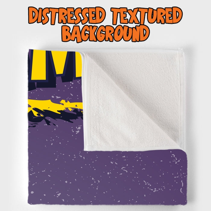 Johnny Bravo Guys Distressed Purple Beach Towel - Image 4