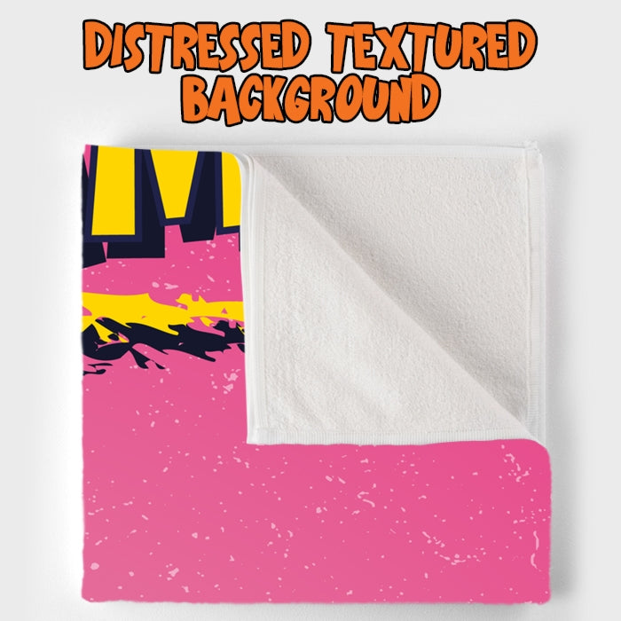 Johnny Bravo Ladies Distressed Pink Beach Towel - Image 5