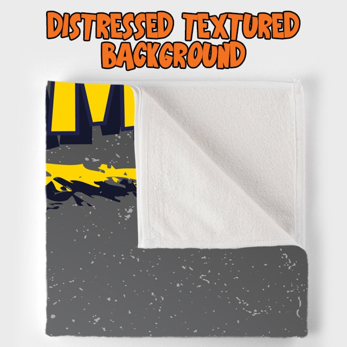 Johnny Bravo Ladies Distressed Grey Beach Towel - Image 5