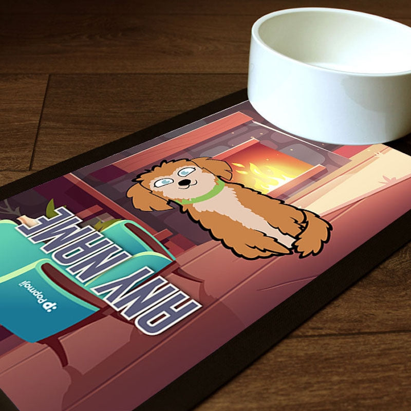 Personalised Dog Fireplace Pet Mat - Image 1