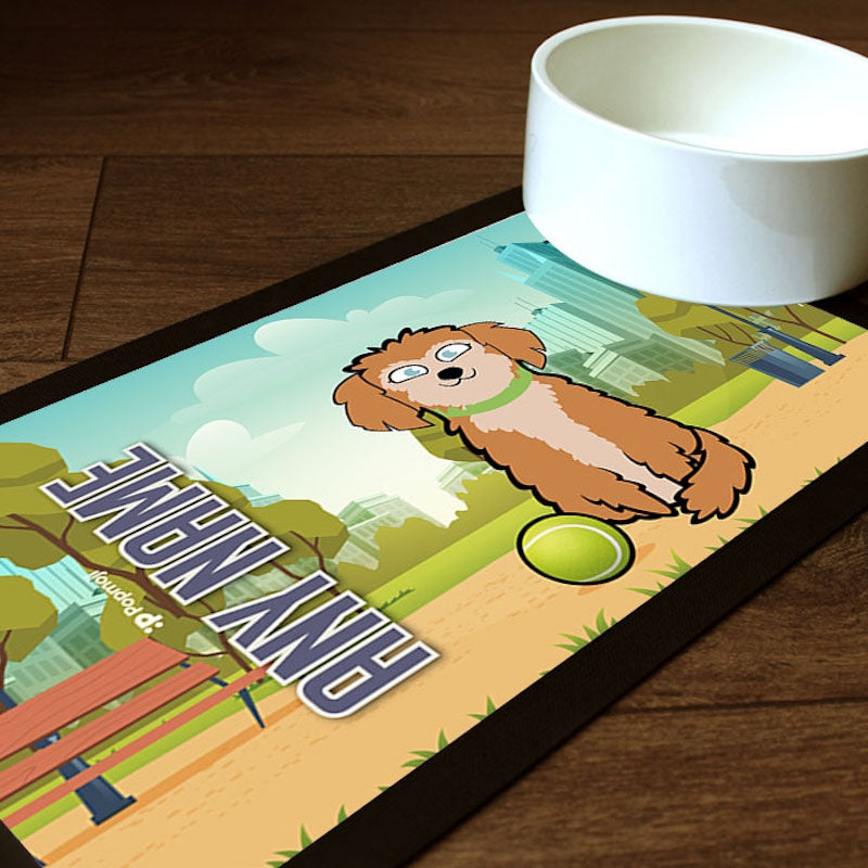 Personalised Dog Park Life Pet Mat - Image 1