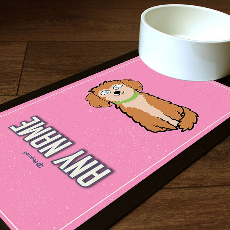 Personalised Dog Pink Pet Mat - Image 1