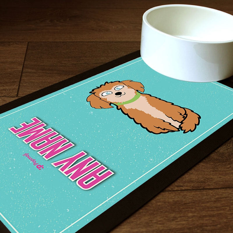 Personalised Dog Turquoise Pet Mat - Image 1