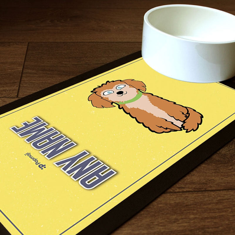 Personalised Dog Yellow Pet Mat - Image 1
