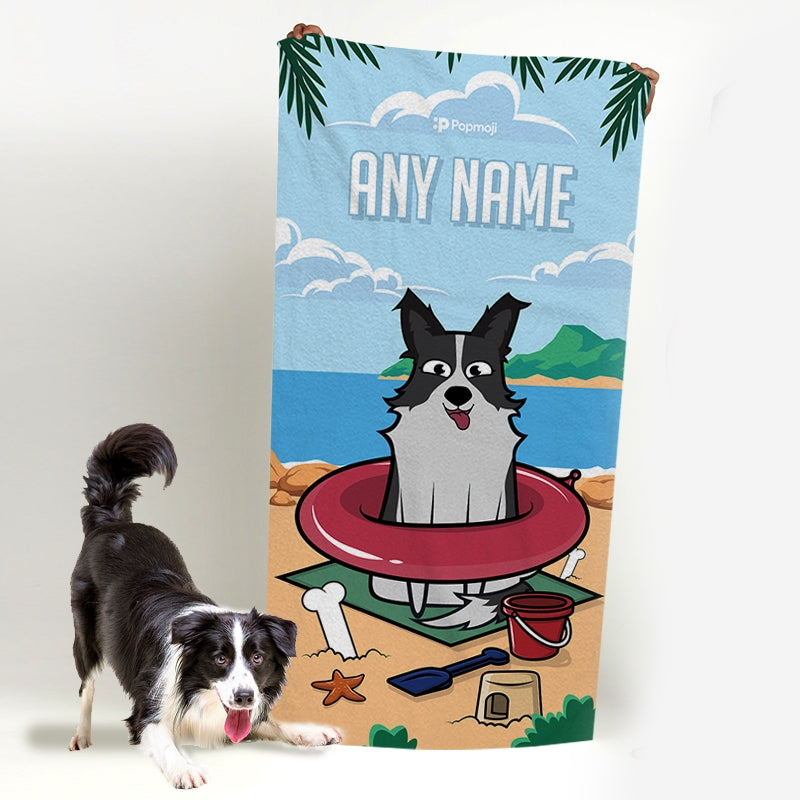 Personalised Dog Beach Fun Bath Towel - Image 2