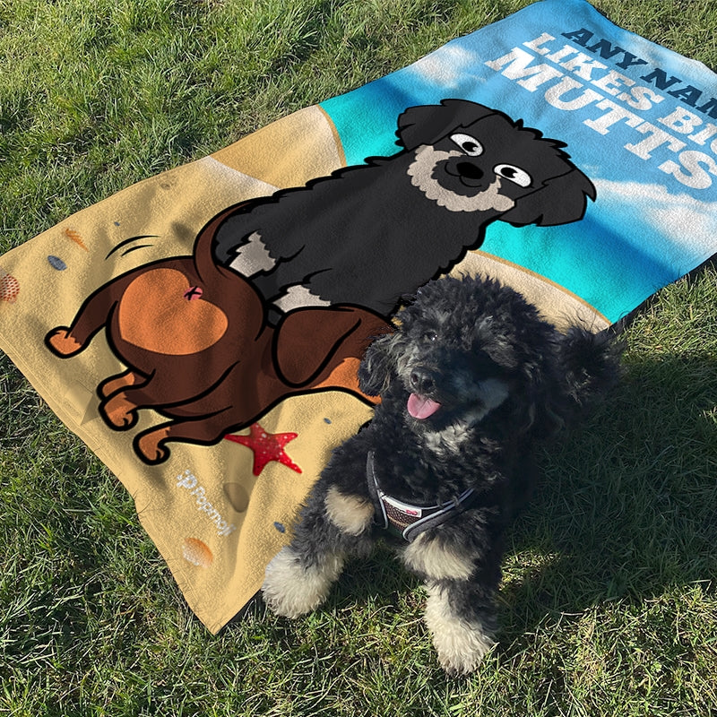 Personalised Dog Big Mutts Beach Towel - Image 4