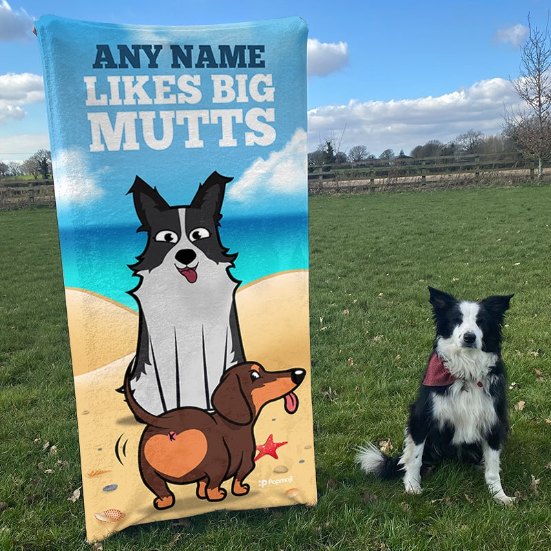 Personalised Dog Big Mutts Beach Towel - Image 3