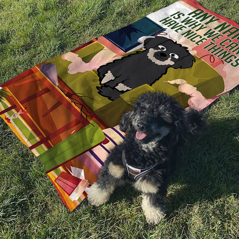 Personalised Dog Nice Things Beach Towel - Image 4