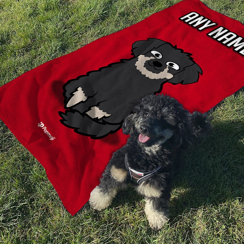 Personalised Dog Red Bath Towel - Image 3