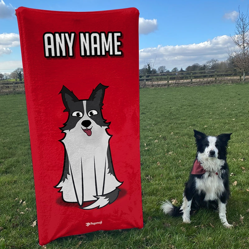 Personalised Dog Red Bath Towel - Image 5