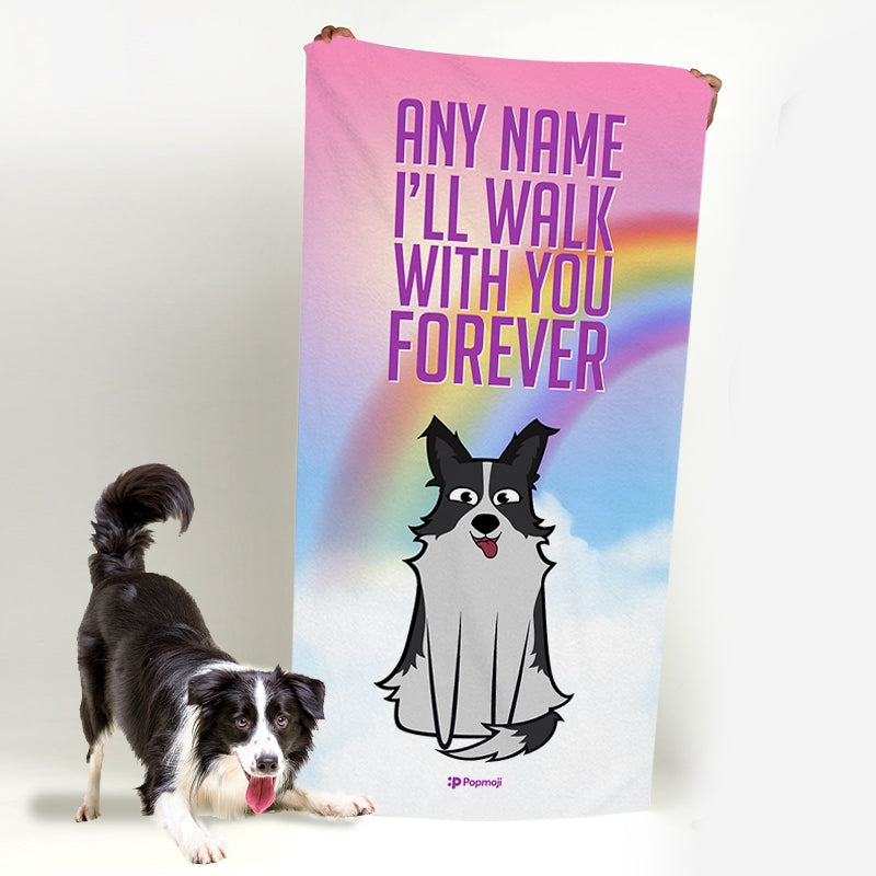 Personalised Dog Walk With You Forever Bath Towel - Image 1