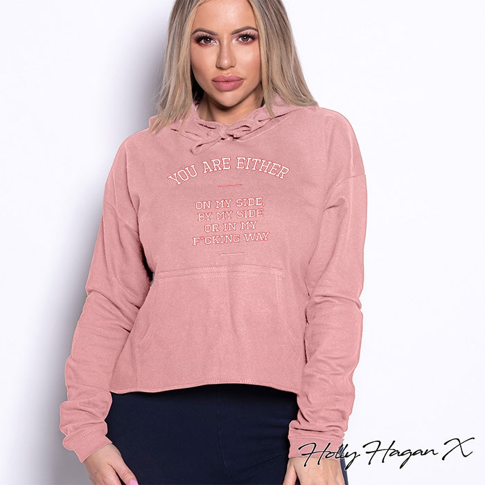 Holly Hagan X My Way Cropped Hoodie - Image 4