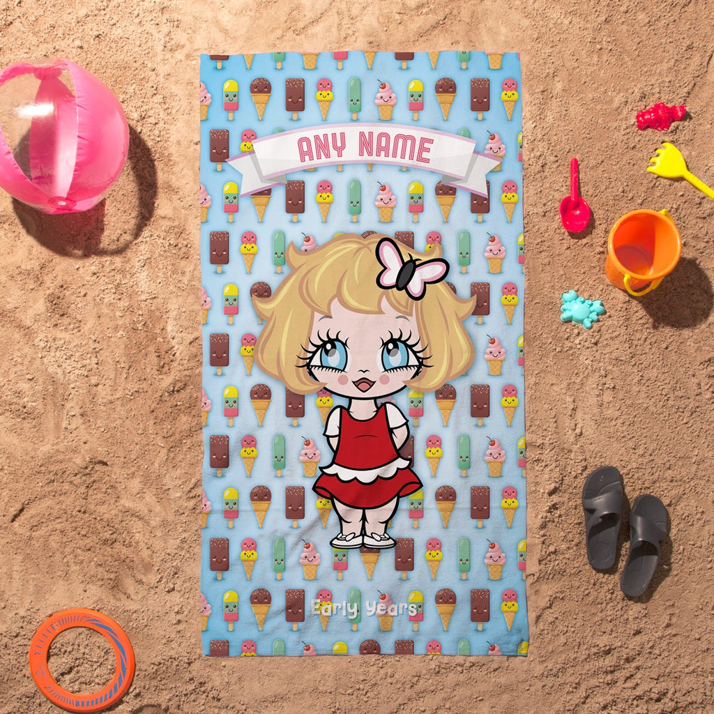 Early Years Ice Cream Beach Towel - Image 1