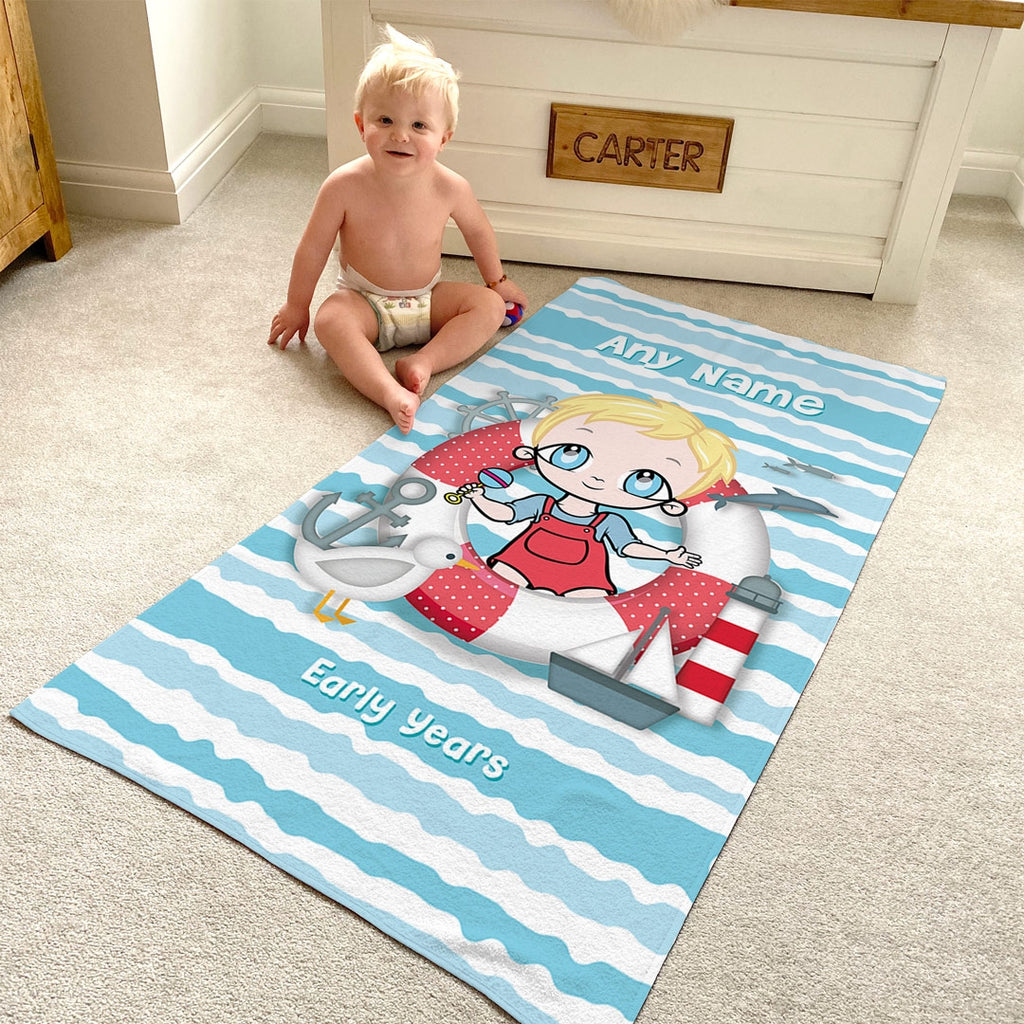 Early Years Nautical Beach Towel - Image 1