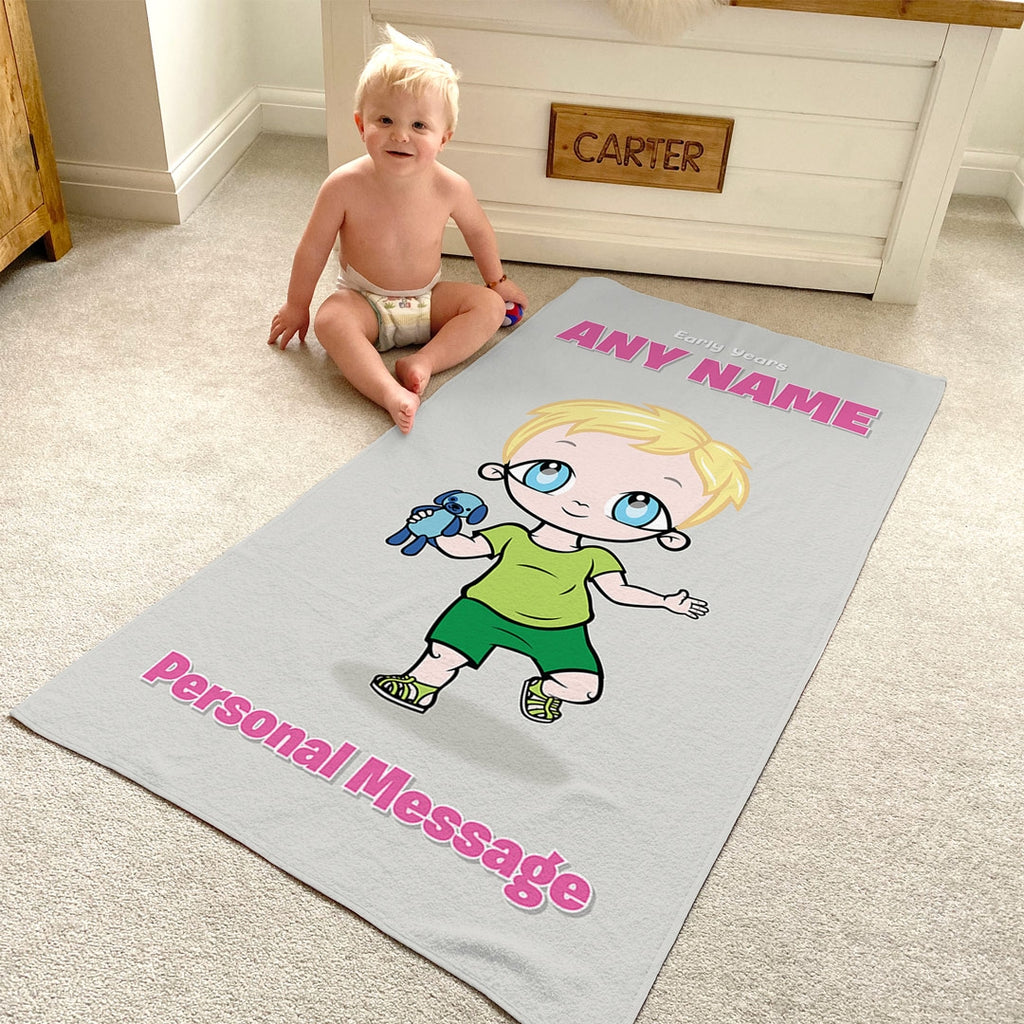 Early Years Grey Beach Towel - Image 1