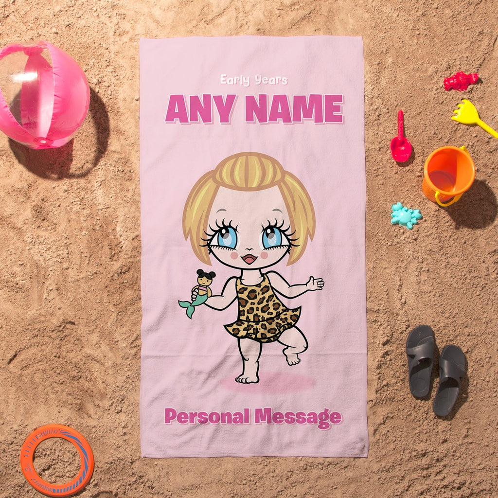 Early Years Pink Beach Towel - Image 1