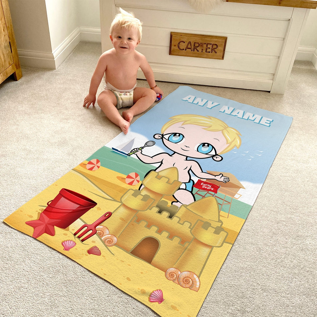Early Years Sandcastle Fun Beach Towel - Image 3