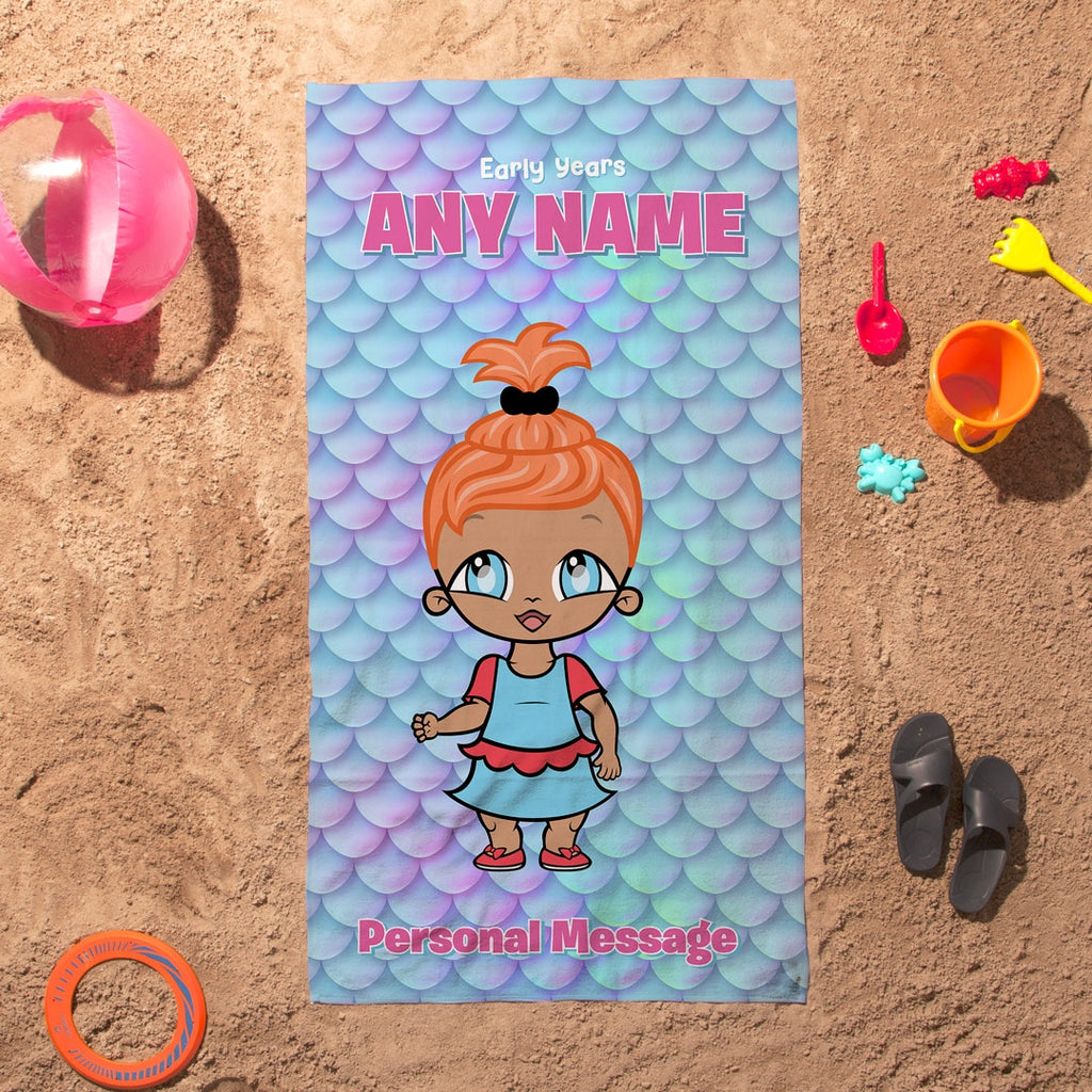 Early Years Scale Shimmer Beach Towel - Image 1