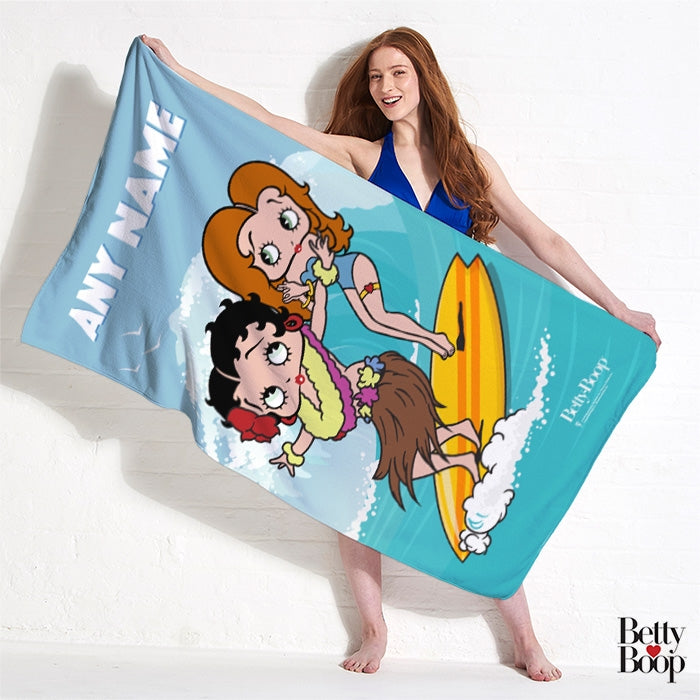 Betty Boop Surfing Betty Beach Towel - Image 2