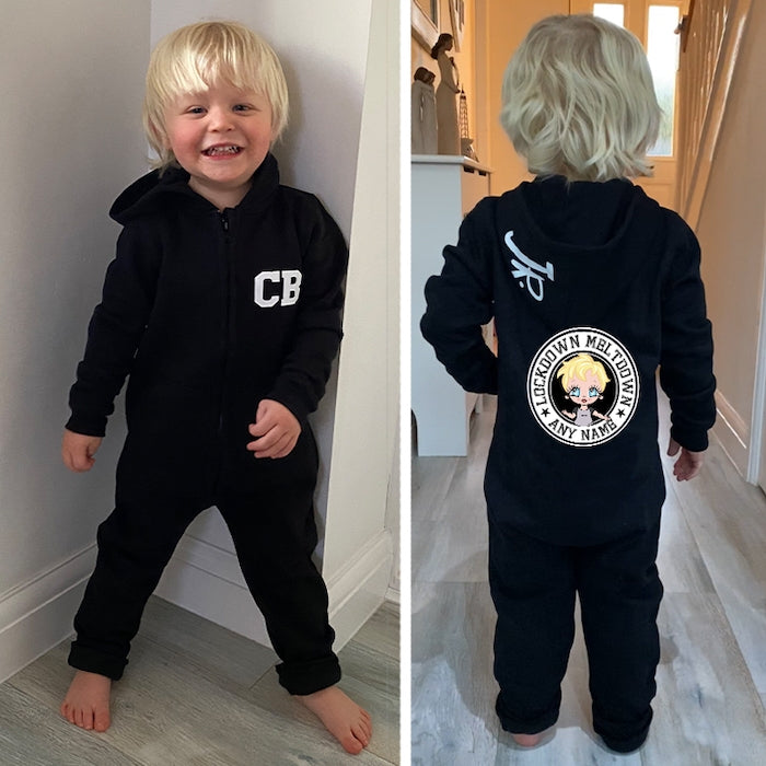 Early Years Boys Lockdown Meltdown Onesie - Image 3