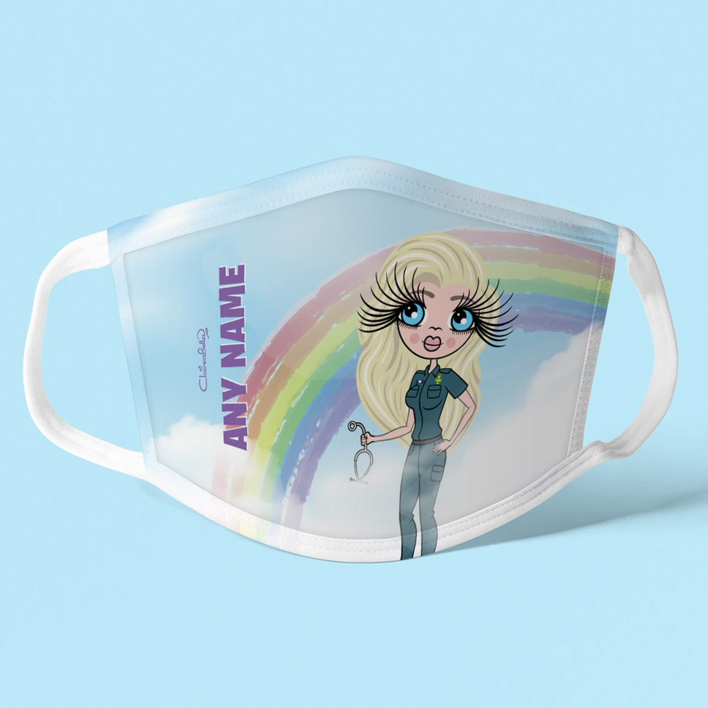 ClaireaBella Personalised Rainbow Reusable Face Covering
