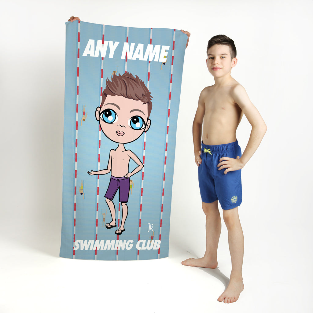 Jnr Boys Lanes Swimming Towel