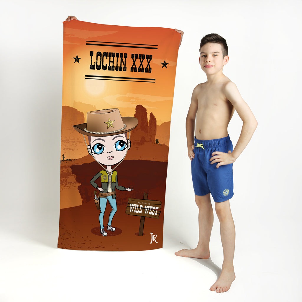 Jnr Boys Cowboy Beach towel