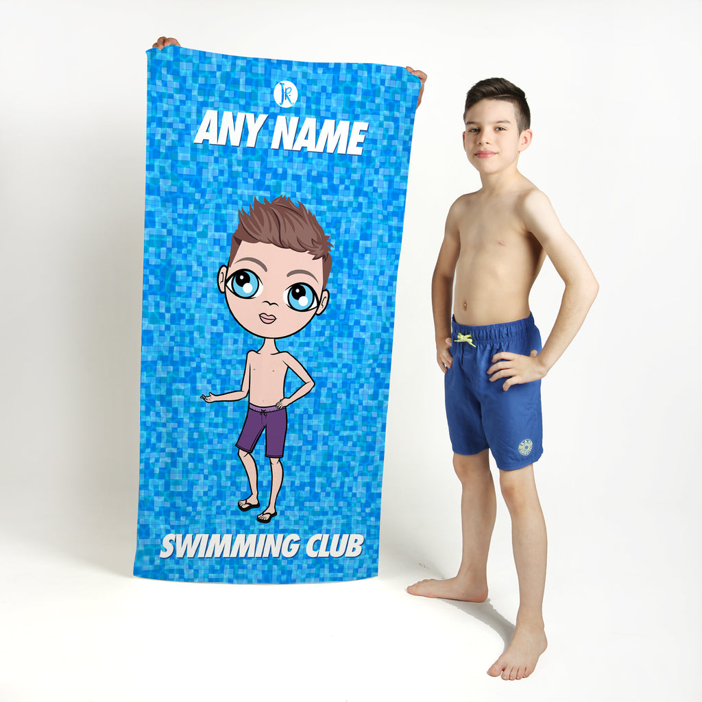 Jnr Boys Pool Texture Swimming Towel