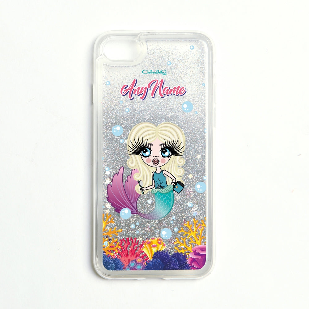 ClaireaBella Girls Mermaid Liquid Glitter Phone Case - Silver - Image 3