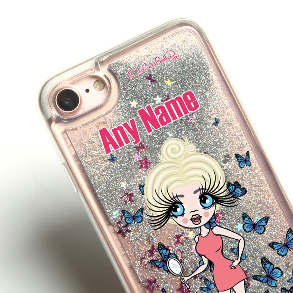 ClaireaBella Butterfly Liquid Glitter Phone Case - Silver - Image 2