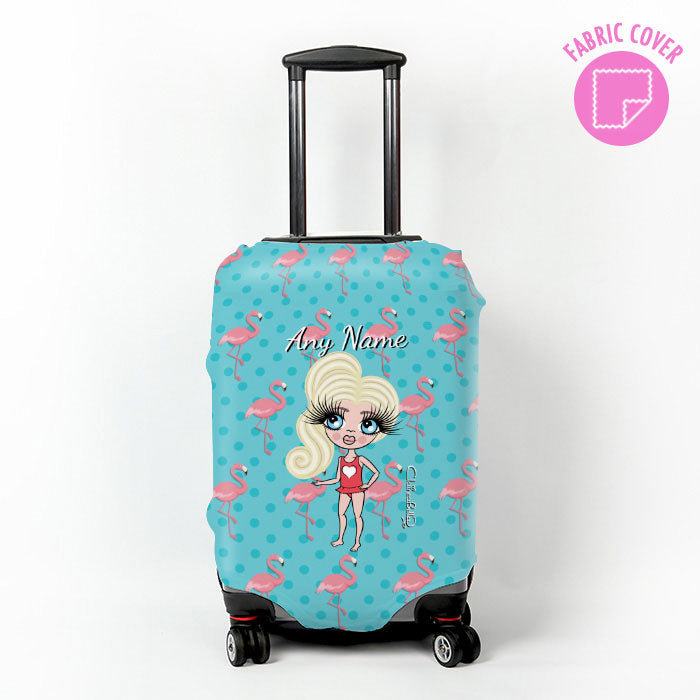 ClaireaBella Girls Flamingo Print Suitcase Cover